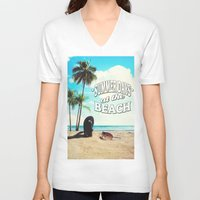 500 days of summer V-neck T-shirts featuring Summer Days by Nicklas Gustafsson