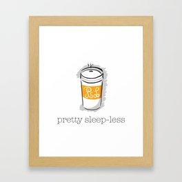 Pretty Sleep-Less Framed Art Print