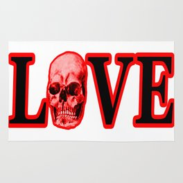 Love Red Skull The MUSEUM Zazzle Gifts Rug