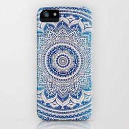 Teal And Aqua Lace Mandala iPhone Case