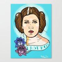leia Canvas Prints featuring Leia by Monica Lara Art