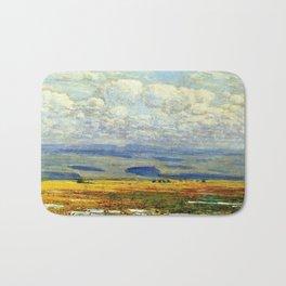 Classical Masterpiece 'Oregon Landscape' by Frederick Childe Hassam Bath Mat