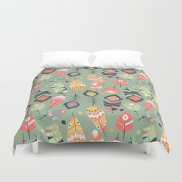 Tribal feather pattern 011 Duvet Cover