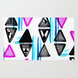 Cute Triangles and Lines Rug