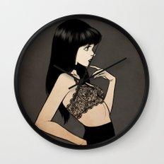 Black hair Wall Clock