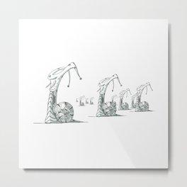 Snail Rout Metal Print
