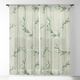 Calming lily of the valley Sheer Curtain