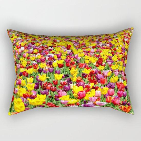 SEA OF TULIPS Rectangular Pillow