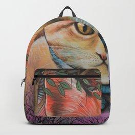 Milo ... Abstract Cat Kitten Art Backpack