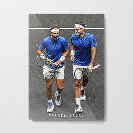 Rafael Nadal Roger Federer copy Metal Print