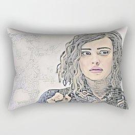 13 Reasons Why Hannah Baker Sheepish Artistic Illustration Zen Style Rectangular Pillow