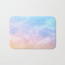 Pastel Rainbow Watercolor Clouds Bath Mat