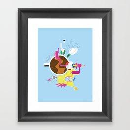 Creative Destruction Framed Art Print
