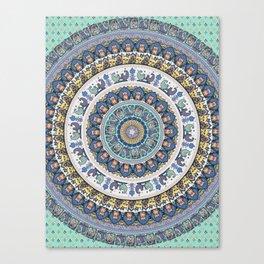 Frenchie Yoga Medallion Canvas Print