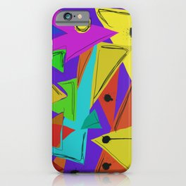 Cages at the Border #Abstract #Geometric #PoliticalArt iPhone Case