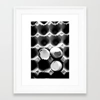 eggs Framed Art Prints featuring  eggs by serena wilson stubson