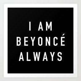 I Am Always - the Office (White) Art Print