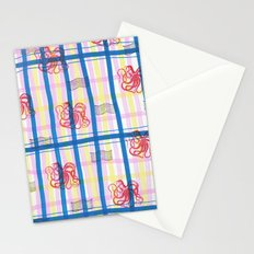 Naval Gingham Stationery Cards