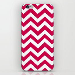 Spanish carmine - fuchsia color - Zigzag Chevron Pattern iPhone Skin