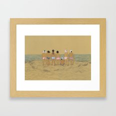 Waiting For The Catch Framed Art Print