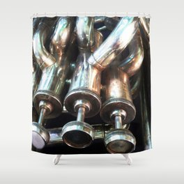 Instrumental view Shower Curtain