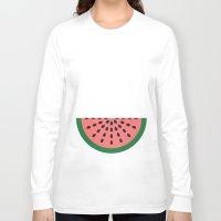 watermelon Long Sleeve T-shirts featuring Watermelon by Karolis Butenas
