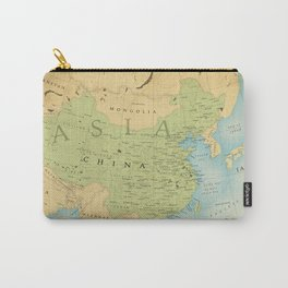 Aged Map of China Carry-All Pouch