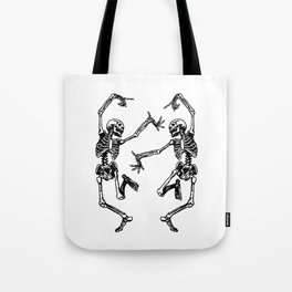 Duo Dancing Skeleton Tote Bag