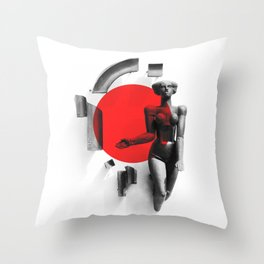 Girl from Grodno Throw Pillow