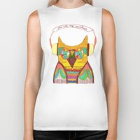 rustic Biker Tanks featuring The Owl rustic song by Picomodi