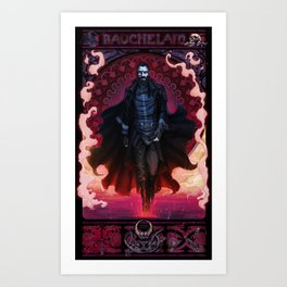 Bauchelain Art Print