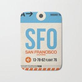 SFO San Francisco Luggage Tag 1 Bath Mat