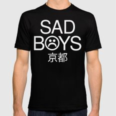 sad Mens Fitted Tee Black MEDIUM