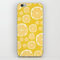 lemon iPhone & iPod Skins featuring Lemon by Make-Ready