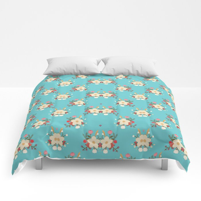 Fashion Flower Pattern Art Design Comforters