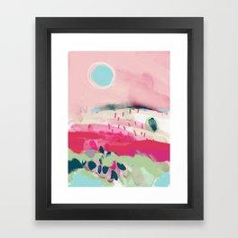 spring dream landscape Framed Art Print