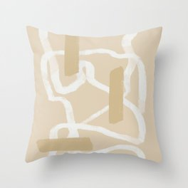 Tubular white Throw Pillow