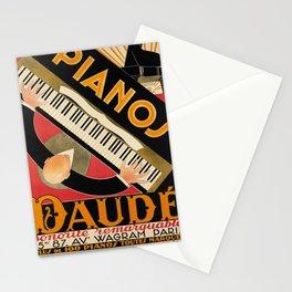 vintage Plakat pianos daudé. 1926 Stationery Cards