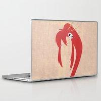 gurren lagann Laptop & iPad Skins featuring Minimalist Yoko by 5eth