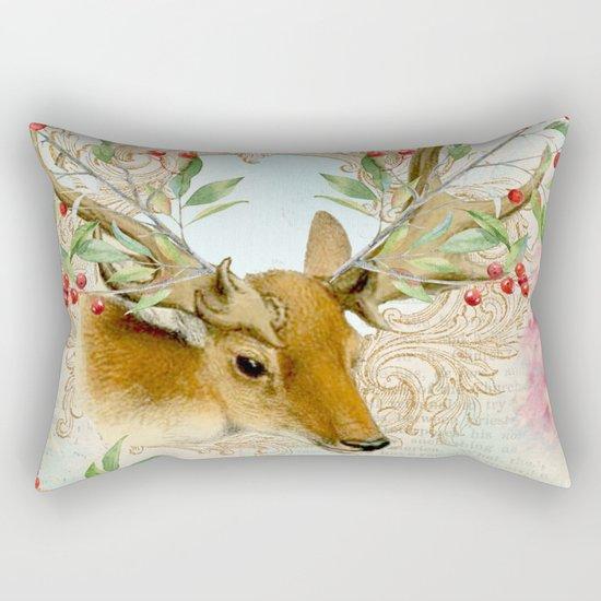 Winter animal #6 Rectangular Pillow