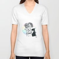 larry stylinson V-neck T-shirts featuring Larry Hug 2015 by rachaellovesfood