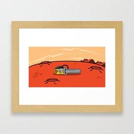 Chainsaws on Mars Framed Art Print
