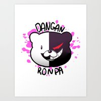dangan ronpa Art Prints featuring Dangan Ronpa by zamiiz