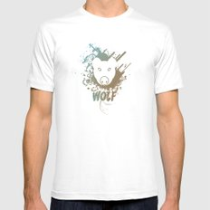 Wolf | Zoo Serie MEDIUM Mens Fitted Tee White