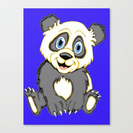 Smiling Panda Canvas Print