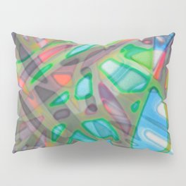 Colorful Abstract Stained Glass G299 Pillow Sham
