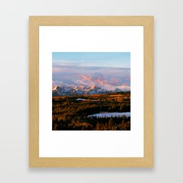 Sunrise in the Rockies Framed Art Print