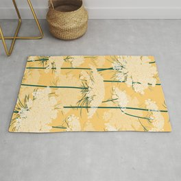 Queen Annes Lace Pattern | Yellow Rug