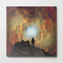 Sunset Vortex Metal Print