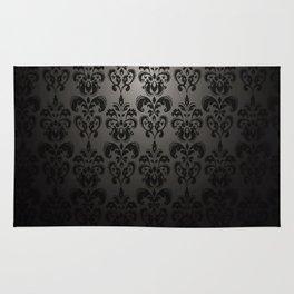 Sophisticated Black Pattern Rug